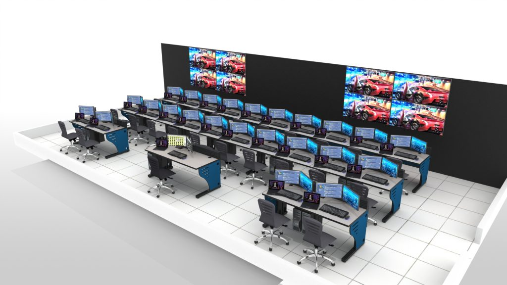 2020 Summit Edge Console Video Wall Rows