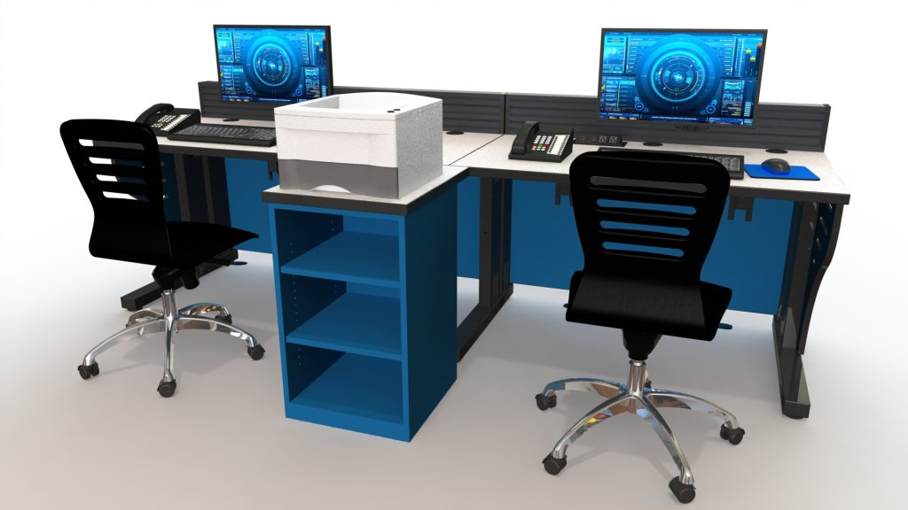 Summit Edge Console Workstation Blue