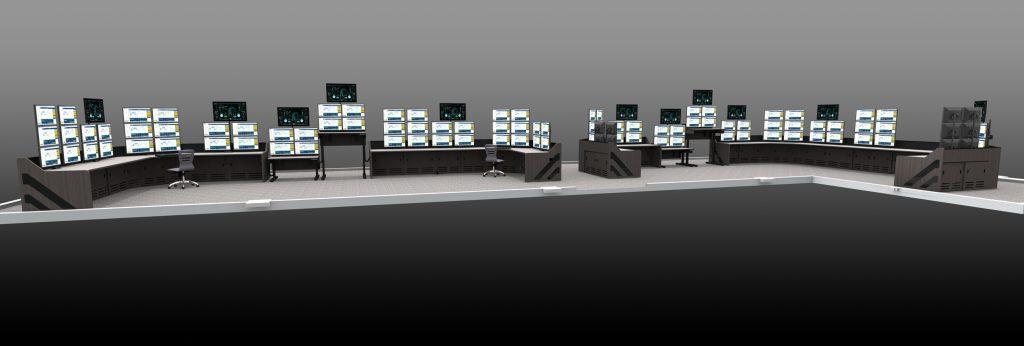 Wide Angle Control Room Furniture