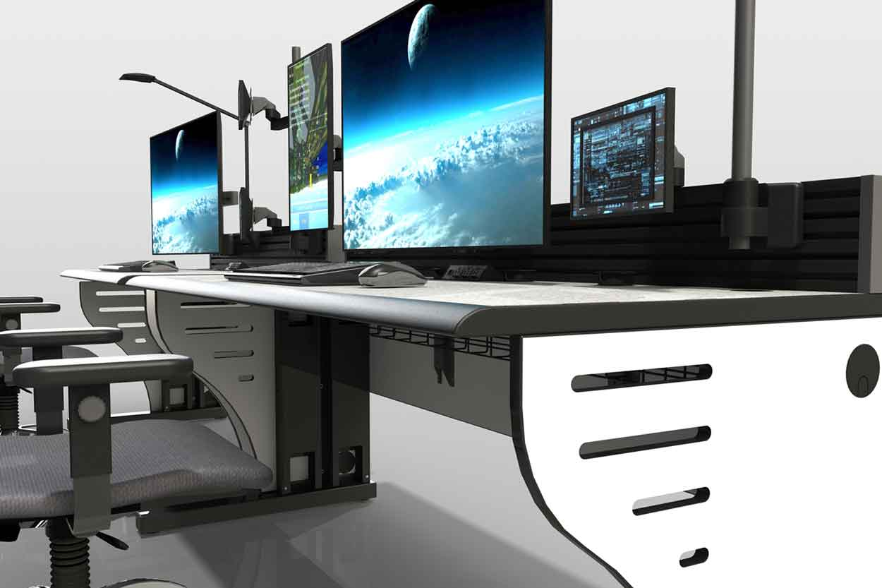 Space and Command Center Flight Control Room Furniture