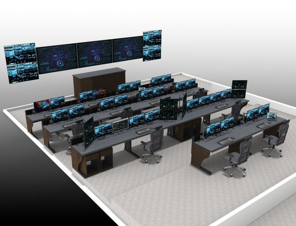 Edge NOC Control Room Video Wall