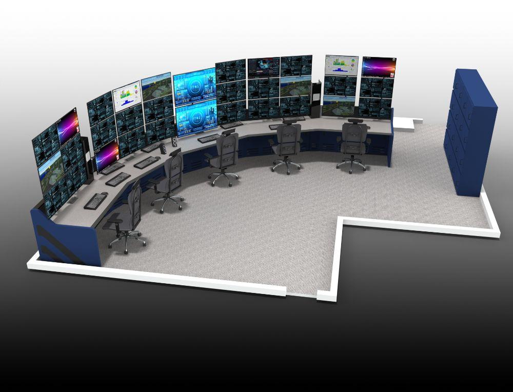 Half Crescent Control Room Furniture