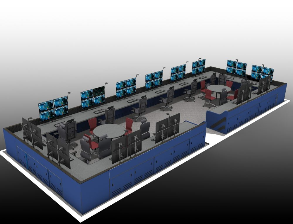 Rectangular Shaped Control Room Furniture